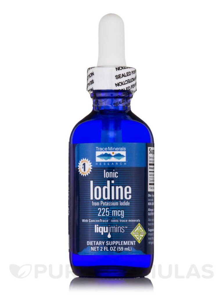 ionic iodine from potassium iodide 225 mcg 2 oz by trace minerals research